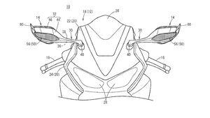 Honda Patent Rückspiegel mit Spoiler