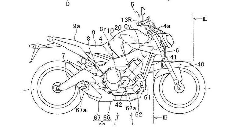 Yamaha Turbo Patentamtszeichnungen