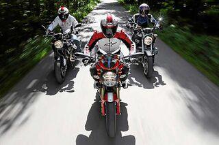 Bmw Ducati Und Moto Guzzi Naked Bikes Mit Luftkühlung