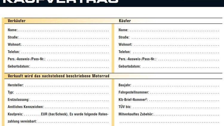 Beratung Motorrad Verkauf Und Kaufvertrag Motorradonlinede